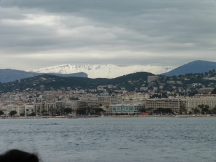 View of Cannes from the ferry (2/2)