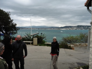 Ingrid and Paco with a scenic backdrop