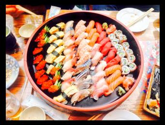 Sushi meal to say goodbye to Satoshi (1/2)